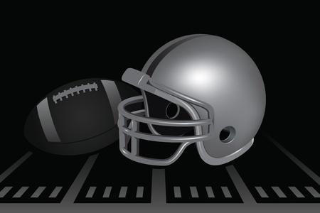 Football Helmet Illustration