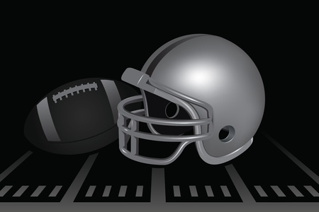 Football Helmet Stock Illustratie