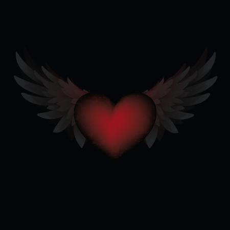 музыка: Сердце и крылья Иллюстрация