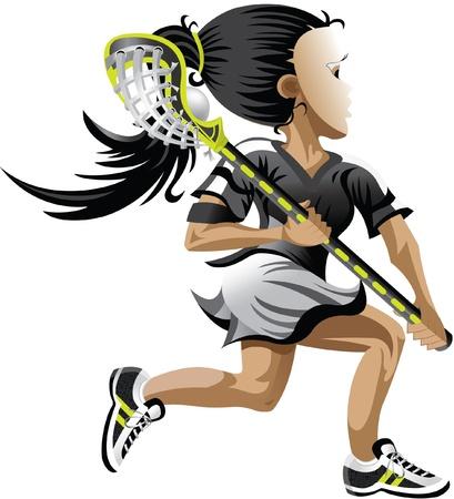 Lacrosse Girl Stock Vector - 20763187