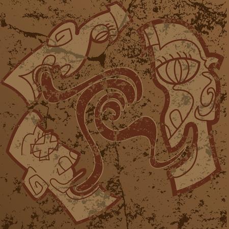antiquities: Mayan Heads