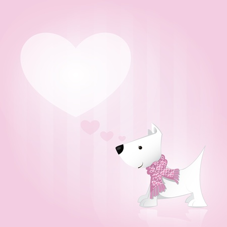 Puppy in Love Vector