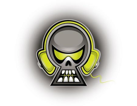 Skull Music Çizim