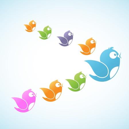 followers: Followers Social Media Vettoriali