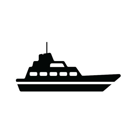Vector illustration of a yacht