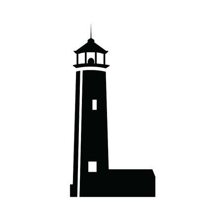 Vector illustration of a lighthouse Illustration