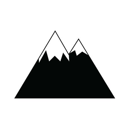 Vector illustration of snow-capped mountains