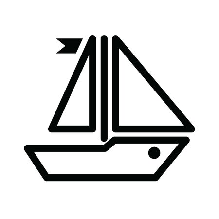 Vector illustration of a sailboat
