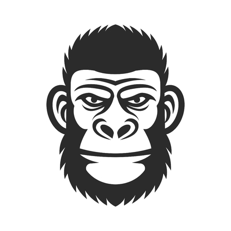 Monkey vector illustration. Gorilla Head 版權商用圖片 - 83524552