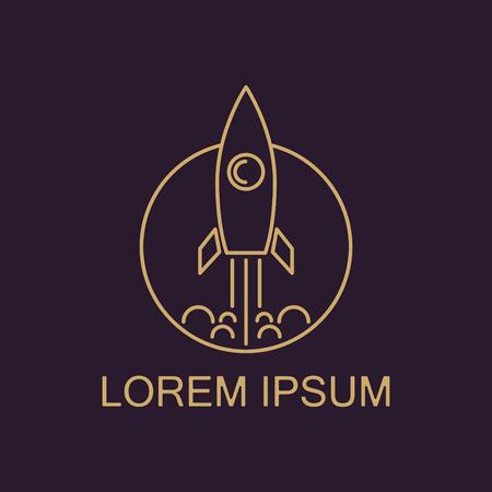 Rocket icon. Logo