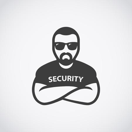 보안 아이콘입니다. 선글라스에 경비원.