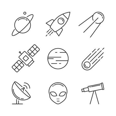 Icon set space.