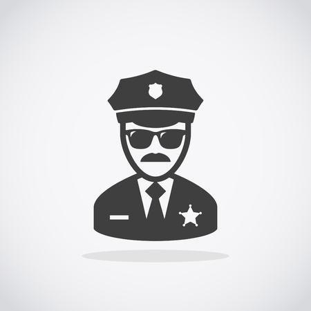 Police Icon vector. Policeman Officer avatar illustration.