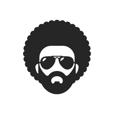 Cool african man. Afro haircut.
