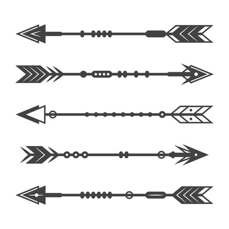 Set of abstract arrows on a white background.
