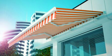 Shop Awning in the Morning, 3D Illustration