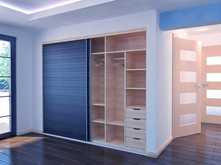 Wardrobe - Sliding doors - interior Stockfoto