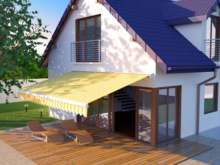 Awning Illustration of a House