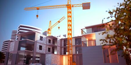 Photo of Apartments construction Stock Photo