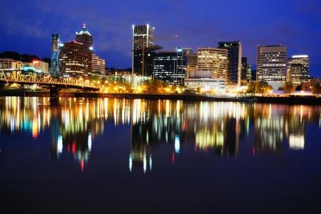 A beautiful night view of portland
