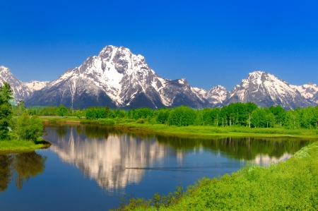 Oxbow Bend at Grand Teton Stock Photo - 20300569