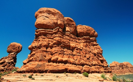 A beautiful view of arches national park