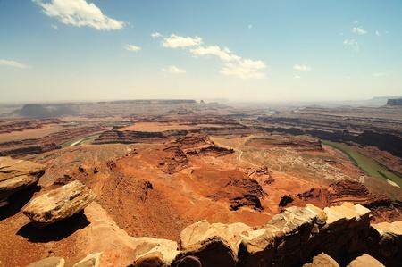 The Dead horse state park at Utah 版權商用圖片