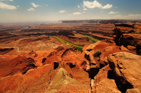 The Dead horse state park at Utah Stock Photo