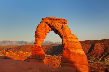 Beautiful Arches National Park Stock Photo