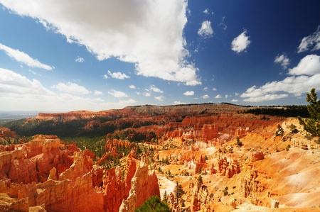 Beautiful view of bryce canyon Stock Photo