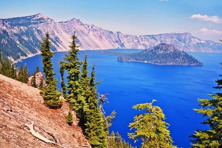 Beautiful view of crater lake