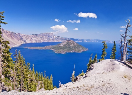 crater lake: The deep blue beautiful crater lake
