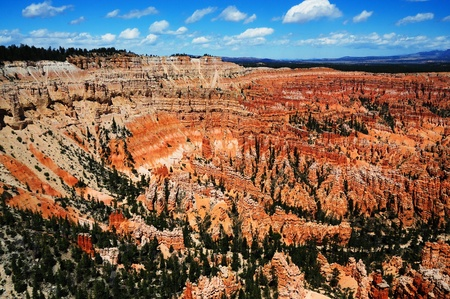 A beautiful view of bryce canyon national park