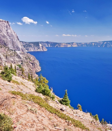 crater lake: A beautiful view of Crater Lake