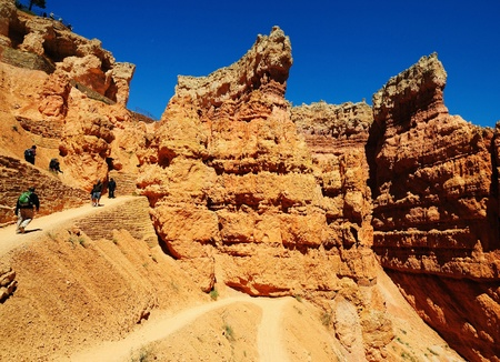 A Beautiful view from navajo trail Stock Photo