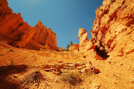 plateau point: A Beautiful view from navajo trail Stock Photo