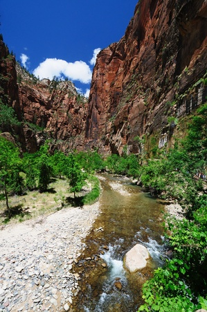 The View of Canyon Junction at Zion Stock Photo