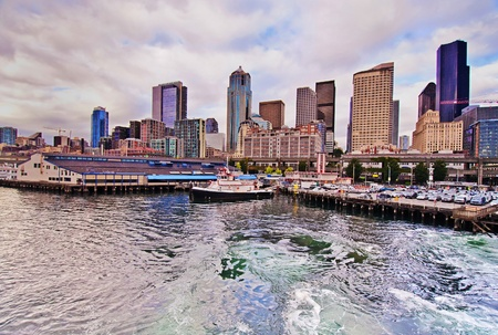 A beautiful view of seattle downtown photo