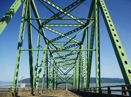The Astoria bridge and road 版權商用圖片