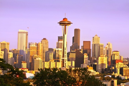 Beautiful seattle from kerry park Editorial
