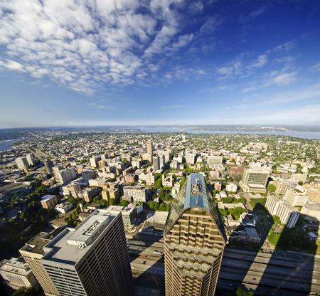 Een mooie mening van Seattle van Columbia toren