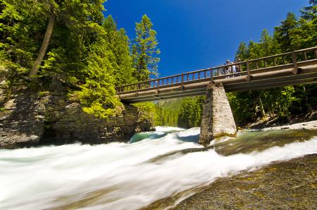 Beautiful falls at glacier national park