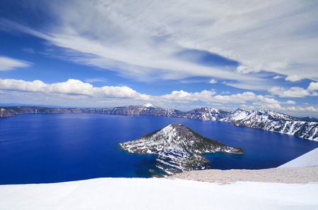crater lake: Beautiful crater lake, Oregon