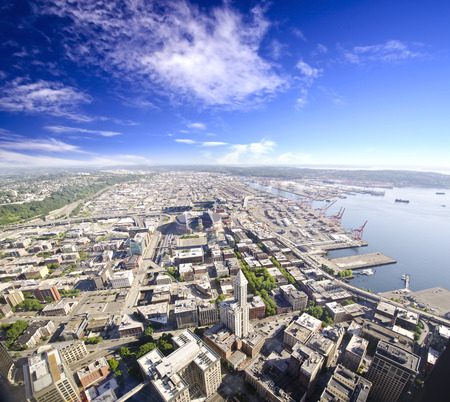 Beautiful overview from Columbia tower Seatle