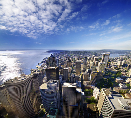 seattle: Beautiful overview from Columbia tower Seatle