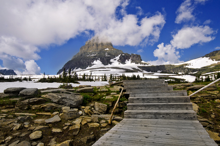 Glacier National Park: Glacier National Park from a Trail Stock Photo