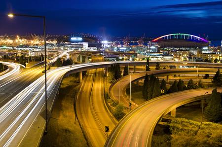 nightview: Beautiful nightview of seattle Stock Photo