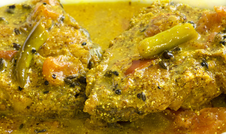 Fish  Curry with mastered , very popular In India and Bangladesh