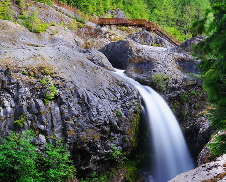 helens: A Waterfall at Mt Saint Helens