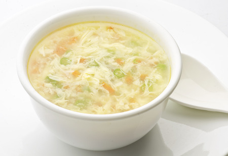 Vegetable Clear Soup with Eggs